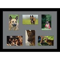 """Large multi picture photo aperture frame 7"""" x 5"""" inches size with 6 openings"""