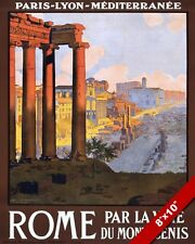 ROME RUINS ITALY ITALIAN TRAVEL POSTER OIL PAINTING ART GICLEEREAL CANVAS PRINT
