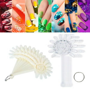 240 Packs Nail Design Swatch Sticks Polish Color Display Board Wheel Ring