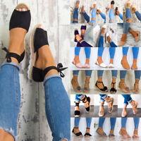 Ladies Women Espadrilles Shoes Summer Beach Flat Pumps Plimsoles Sandals Size US