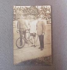 Vintage 1930s Bicycle Velodrome Track Racer Photograph Postcard Germany Stayer 2