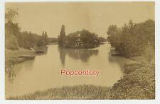 Vintage 1880s France Paris Albumen Photograph Lake in Boulogne Avenue Unmounted