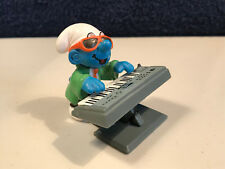 Smurfs Keyboard Super Smurf Rare Vintage Figure Music Band Toy Figurine 40250