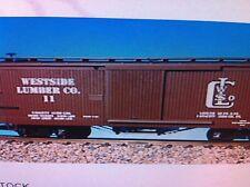 USA Trains G Scale 19041b Woodside Box Car Westside Lumber Rd #11