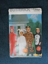 VINTAGE SEWING PATTERN: BUTTERICK 4289. SIZES 1-4. TODDLER. HALLOWEEN COSTUMES