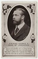 KING GEORGE V - Duke Of Lancaster - by Rotary - c1910s era real photo postcard