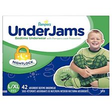 Pampers Underjams Bedtime Underwear BoysSize Large/X-Large Diapers 42 Cou... New