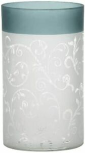 Yankee Candle Teal Vine Frosted Glass Jar Holder NEW