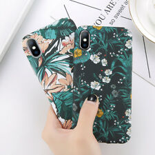 Ultra Slim Flowers Pattern Case Hard Cover for Apple iPhone 6 7 X 8 Plus S8 Plus