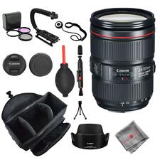 Canon EF 24-105mm f/4L IS II USM Lens + Bag Cleaner 3pc Filter Kit Stabilizer