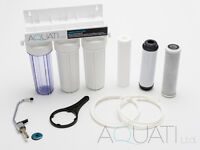 NEW UNDERSINK DRINKING WATER FILTER SYTSEM TAP KIT FAUCET + ACCESSORIES Aquati