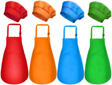 Kids Apron and Chef Hat Set - 8 Pieces Waterproof and Medium Color 1