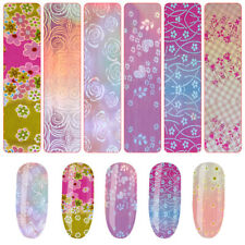 Holographic Laser Nails Transfer Foil Stickers Mix Pattern Manicure Nail Art#