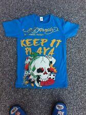 Rare shirt playa skull  ed hardy by christian audigier bleu ciel