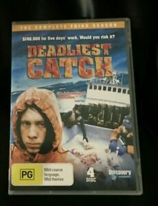 Deadliest Catch : Season 3 (DVD, 2009, 4-Disc Set) Very Good Condition Region 4