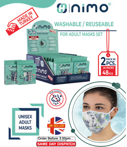 Face Mask for Adult | Reuse-able | Washable | Mix Pattern | 6x Box | 144 Packs