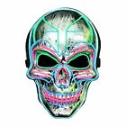 LED Halloween Mask, Scary Halloween Costume Mask with EL Wire Light up 3