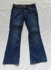 Womens Juniors Levi's 518 Superlow Boot Cut Denim Blue Jeans Size 7 x 28""
