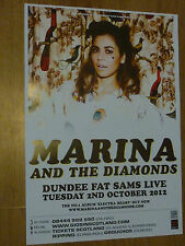 Marina And The Diamonds - Dundee oct.2012 tour concert gig poster