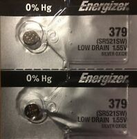 2 -379 Energizer 2 Qt. SR521SW Battery Authorized Seller Free uSA Ship.