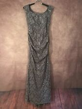 Alex Evenings Gown Woman's Sequence And Lance Dress Gray Color  Size 8