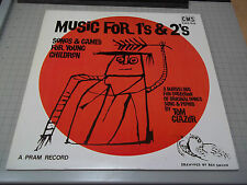 Music For 1's & 2's Songs & Games For Young Children Tom Glazer CMS 649 FastShip