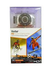 Vivitar DVR 781HD Video Camera Recorder Go Outdoor Waterproof Helmet Pro Cam NEW