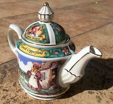 Vintage James Sadler collectible teapot - Copperfield-Dickens story