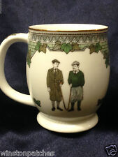 GOLDEN STATE PORCELAIN GSP GOLF MUG CLASSIC CLOTHES WOOD CLUBS GREEN PATTERNED