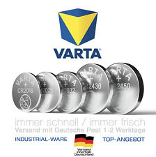 VARTA CR2032 CR2025 CR2016 CR2450 CR2430 Industrial Knopfzellen Bulk MHD 2030