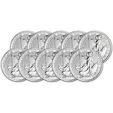 2020 Great Britain Silver Britannia £2 - 1 oz - BU - Ten 10 Coins