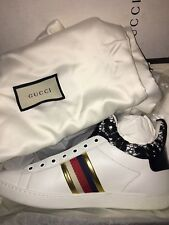 8009d28c754b NEW  730 Gucci Women New Ace High Top Lace Leather Sneakers Shoes EU 39.5 US