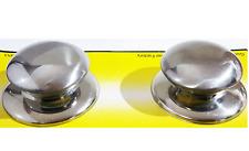 Pentola 2pcs/Pan COPERCHIO COPERTURA MANIGLIA DI RICAMBIO MANOPOLE Cookware tutti in metallo