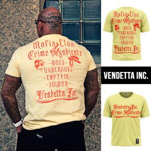 Vendetta Inc. Shirt Mafia Clan hellgelb 1144 Männer Sport,Freizeit T-Shirt XL