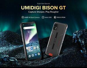 UMIDIGI BISON GT Rugged Smartphone 8GB+128GB 64MP Quad Rear Camera Cell Phone