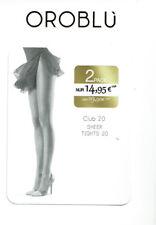 Oroblu Club 20 Strumpfhose, 2 Pack, transparent, matt, hauchzart, sun, XL=44-46