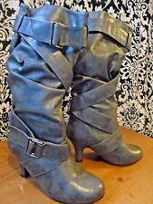Whitemt Slouchy Boots 15 inches women's size 7 1/2M grey PRICE SLASHED IN HALF!