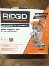 RidGid Brushless 18V Compact Router R86044B with Bag Brand New