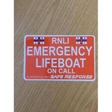 Emergency LIFEBOAT - ORANGE - on Call Dash Card car windscreen
