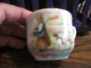 Antique Tea Cup-CHILD HOLDING CAT W/DOG Made In Germany