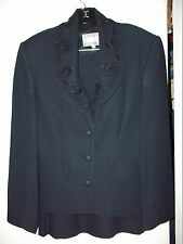Beautiful black beaded dress suit size 8