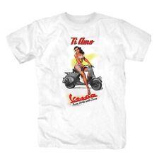 Vespa Roller Italien T-Shirt S-3XL weiss
