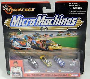 Micro Machines NASCAR Dale Earnhardt Sr & Jr Steve Park Winners Circle 1999 MISB
