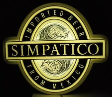Vintage Simpatico Beer Lighted Sign Imported Beer From Mexico