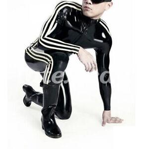 Gummi Man Bodysuit Latex Rubber Herren Catsuit Sport Sexy Uniform Racing Tight