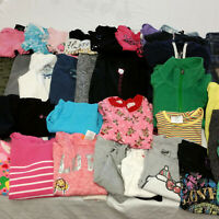 Huge Lot Girls Clothes Size 7-8 Childrens Kids Tops Pants Jeans Pajamas Clothing