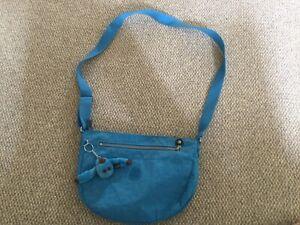 Kipling Turquoise Across Body Bag With Annelien Monkey Keyring