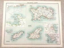 Antique Original City Map Antique Sheet Maps