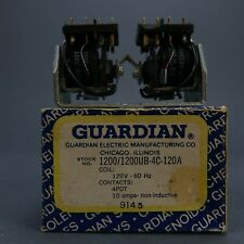 Guardian Electric 1200/1200UB-4C-120A COIL: 120V  60Hz 4PDT 10amps 9145