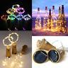 8-20 LED Solar Wine Bottle Cork Shaped String Fairy Lights Night Lamp Xmas